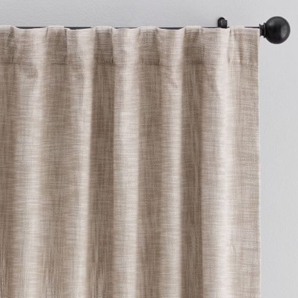 {1} Seaton Textured Rod Pocket Cotton Curtain